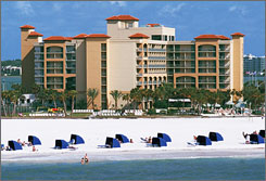 The Sheraton Sand Key Resort in Clearwater Beach, Fla., will be one of  more than 300 hotels and resorts to ban smoking.