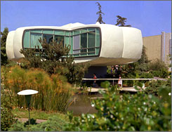 "The Disneyland attraction called ""House of the Future"" opened in 1957 in California. Now, Disneyland is planning to build a new ""House of the Future"" - this time in partnership with Microsoft and Hewlett-Packard to showcase the latest in technology."