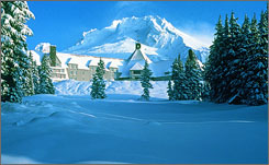 "Heeeere's the Timberline: Jack Nicholson had some ""Shining"" moments in this lodge in Mount Hood, Ore."