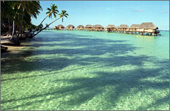 Le Taha's overwater bungalows in Tahiti offers one of the newest undiscovered island getaways.