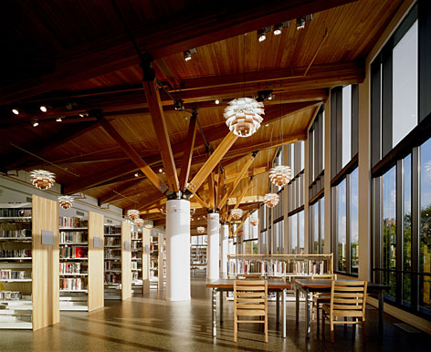 A work of art: Main Library in Oak Park, Ill., has a gallery and public art throughout.