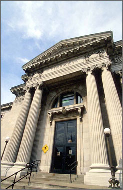 Carnegie connection: A 1990s renovation at Louisville Free Public Library?s Crescent Hill Branch retained the elegance of the 1908 structure endowed by Andrew Carnegie.