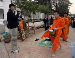 Destinations once deemed too dangerous or remote, such as Luang Prabang in Laos,  are now being overrun with tourists.