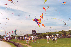 In Rhode Island: Brenton Point State Park hosts a kite festival each summer.