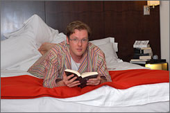 "Barr: Hotel's ""Reader in Residence"" will regale you with bedtime stories (or the morning Times)."