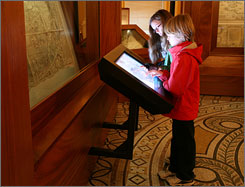 """Opening Saturday: The """"Library of Congress Experience"""" can be explored via computer kiosk."""