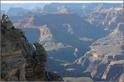 As the dollar declines against the euro and Canadian dollar, foreign travelers are flocking to the USA to see the Grand Canyon and other Western national parks.