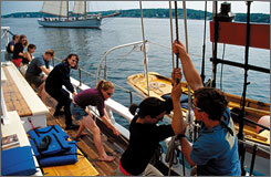 For your efforts: Set sail for three to six days on one of the Maine Windjammer Association?s 12 ships, through June, and receive a $50 gas card.
