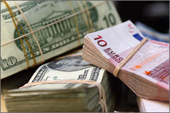 Look south, not east: The dollar is still struggling against the euro.