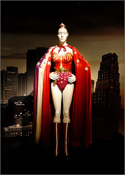 "The ""Superheroes: Fashion and Fantasy"" exhibition features about 60 ensembles, including the 1976 Wonder Woman costume worn by Lynda Carter."