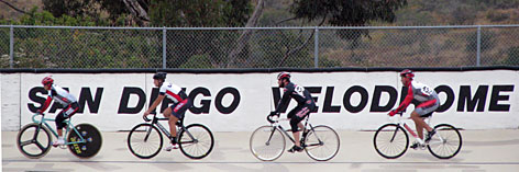 Hitting the track at the outdoor arena: The San Diego Velodrome, in the city's popular Balboa Park, hosts cycling races every Tuesday night from April through September.