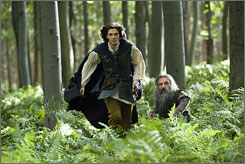 Ben Barnes, left, and Warwick Davis in The Chronicles of Narnia: Prince Caspian, a Disney movie based on C.S. Lewis' book.