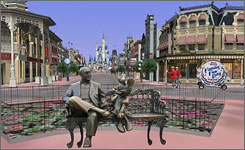 On Google Earth: Photographers' images of Disney World will be 3-D.