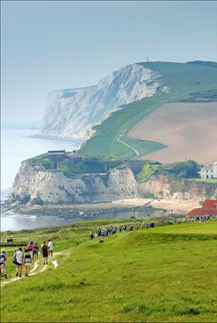 """Break, break, break/On thy cold grey stones, O Sea!"": The British poet once walked along what is now the Tennyson Trail on the Isle of Wight."