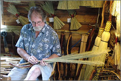 Sweeping vistas: Rob Schwieger's North Woven Broom Co. is in Crawford Bay, B.C., along the International Selkirk Loop.