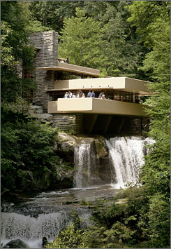 "Frank Lloyd Wright's Fallingwater, which recently underwent a $5 million restoration, was voted ""the best all-time work of American architecture"" in 1991 by the members of the American Institute of Architects."