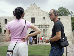 In addition to music and sound effects, the Alamo's new 55-minute audio tour also provides dramatic readings of eyewitness accounts of the 1836 battle.