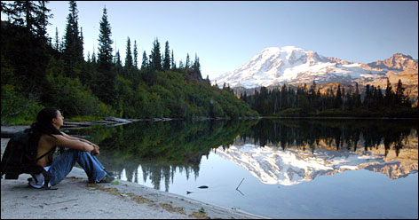 From Seattle: A peak experience at Mount Rainier National Park is a two-hour drive.