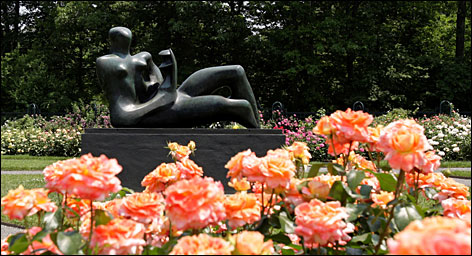 The Bronx's green spaces include the 250-acre New York Botanical Garden, where an exhibit of 20 Henry Moore sculptures is running through Nov. 2.