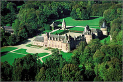 IN NORMANDY, FRANCE: Despite their centuries-long heritage, not many castles stay in the same family for more than a thousand years, but Chateau de Canisy has. Count Denis de Kergorlay is the latest to helm the estate, which has 24 rooms available for overnight guests, some furnished with beds and furniture that date to the 18th century.