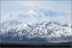 Mount McKinley is located in the heart of Denali National Park, nearly 200 miles north of Anchorage.