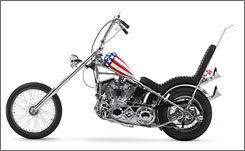 "EASY RIDER: New museum features a replica of the ""Captain America"" bike in the 1969 film."