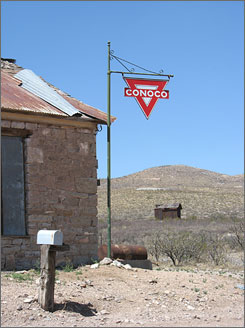 A Conoco gas station sits near the entrance to Lake Valley, N.M. Ghost towns are prevalent in the West and Florida, but even states in the Midwest and several Eastern states have between 10 and 100 ghost towns apiece.