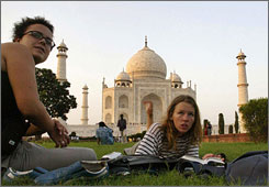 The Taj Mahal, a must-see for most tourists, hosts some 3 million visitors a year.