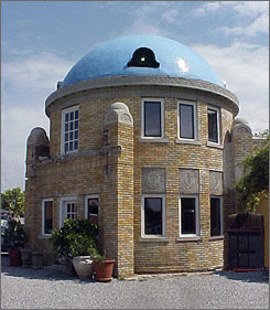 Tulsa's Blue Dome was originally a Gulf Oil filling station, built in 1924 to serve drivers on Route 66. Its design was patterned after the Hagia Sophia in Turkey.