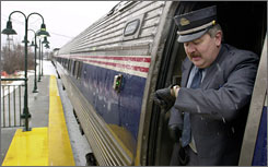 In the face of soaring gas prices, Amtrak reports a 28% gain in ridership on its Downeaster service between Boston and Portland, Maine.