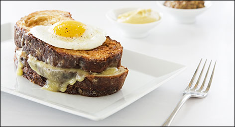 It's what's for breakfast: You can get this grilled cheese with duck egg sandwich at Veil in Seattle.