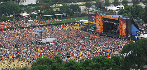 LOLLAPALOOZA: The once-roving music festival, which opens today, has found a permanent home in Chicago's Grant Park.