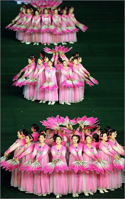In North Korea: The Arirang festival is a tourism draw with its 100,000 synchronized performers.