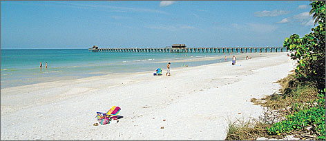 See Naples and buy: Naples Pier provides a scenic backdrop to the white sands of Naples Beach. It is the area?s top spot for watching sunsets over the Gulf of Mexico.