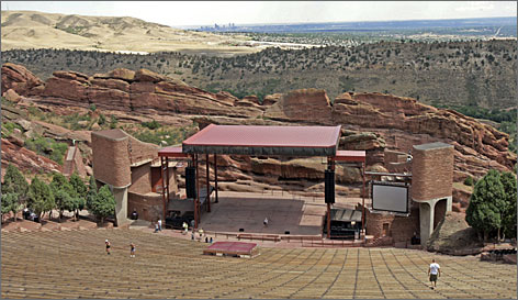 Red Rocks Park, in the foothills 18 miles west of Denver, has picnic sites, trails and a world-renowned amphitheater.
