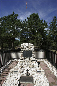 """William """"Buffalo Bill"""" Cody's grave on top of Lookout Mountain is a popular tourist destination."""