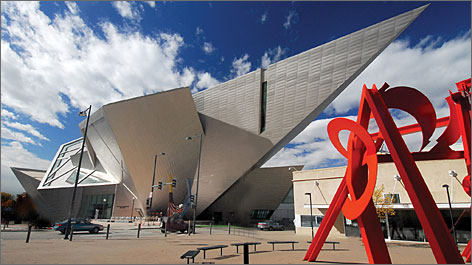 Denver Art Museum: This visual masterpiece piques interest with its geometric design and its art collection. The museum has many convention-related events planned.
