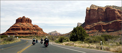 Red rocks west: John McCain's retreat two hours north of Phoenix is located near Sedona and its world-famous rock formations.