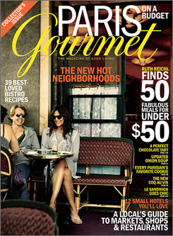 "The ""Paris on a Budget"" issue of Gourmet magazine will be on newsstands Aug. 19."