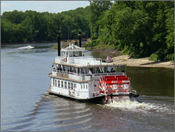 Riverboat cruise: Paddle back in time on the Mississippi.