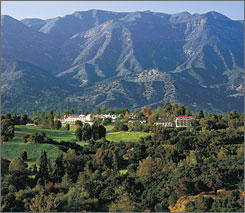 The Ojai Valley Inn in Ojai, Calif.,  is one of several destination spas across the USA offering deals to spur visits during the current economic downturn.