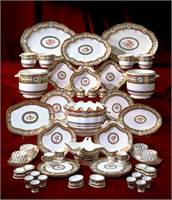 The real deal: Marie Antoinette commissioned this porcelain. Diners get mug/saucer replicas.