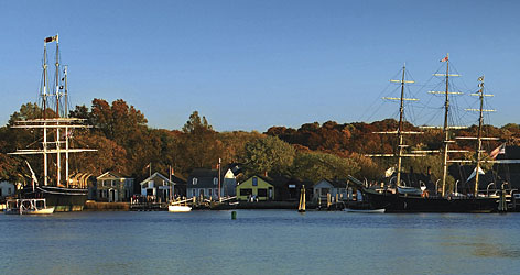 Mystic, Conn., is a small town with big attractions. Mystic Seaport includes a seafaring village with boats you can tour.