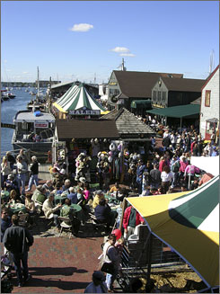 The Bowen's Wharf Seafood Festival in Newport, R.I., features entertainment and children's activities in addition to lobster and  clams on the half-shell.