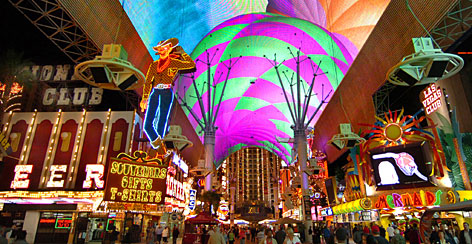 The Fremont Street Experience: This downtown pedestrian mall is vintage Vegas  and free entertainment. 