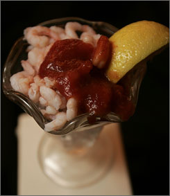 Bargain bite: The Golden Gate casino's famed 99-cent shrimp cocktail.