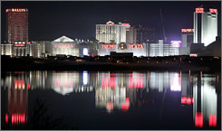 Gambling ranks seventh on a list of why people choose to visit Atlantic City.