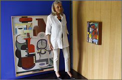 Heidi Weber, Swiss collector and friend of late Swiss-born architect and artist Le Corbusier, shows parts of her private collection of paintings and sculptures of Le Corbusier at the exhibition 'Heidi Weber - 50 Years  Ambassador for Le Corbusier.'