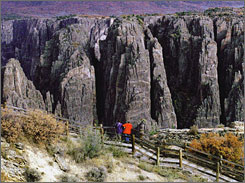 Outside magazine chose Colorado's Black Canyon of the Gunnison as one of its retreats.