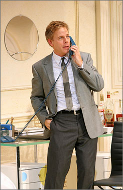 Greg Germann has replaced Bradley Whitford in the production of Boeing Boing at the Longacre Theatre in New York.